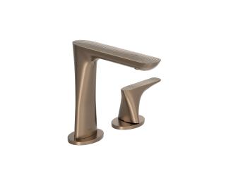 Torneira de mesa com textura bica alta para lavatório
