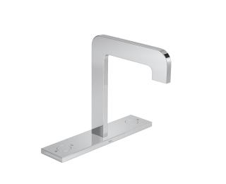 Monocomando de mesa bica alta com chapa para lavatório