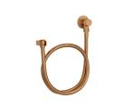 Kit flexível redondo com suporte para ducha manual