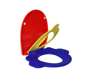 Assento plástico colorido